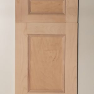 flat panel door and drawer with applied molding