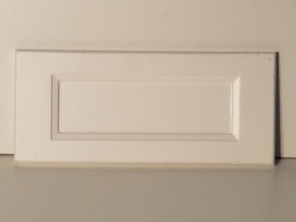 flat panel top drawer with bevel style and rail